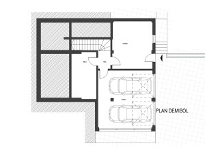 Locuinta individuala CLLR - plan demisol